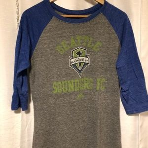 Vintage Seattle Sounders Raglan Tee